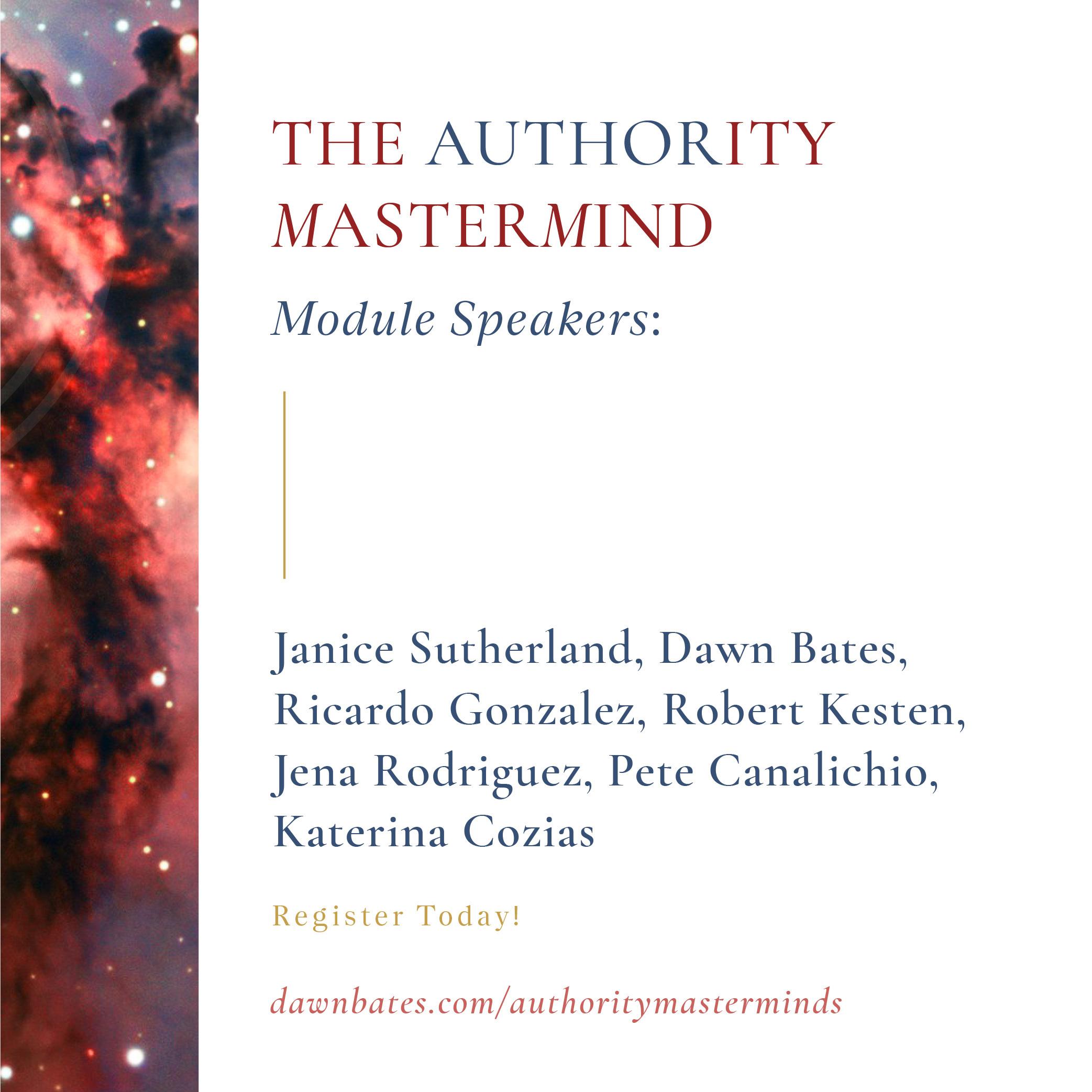 Module Speakers and Mentors